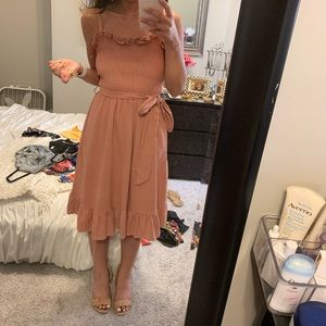 Fashiomo Ruffle Midi Dress
